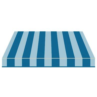 Tenda da sole a bracci estensibili manuale TEMPOTEST PARA' L 2.4 x H 2 m Cod. 46 blu e azzurro