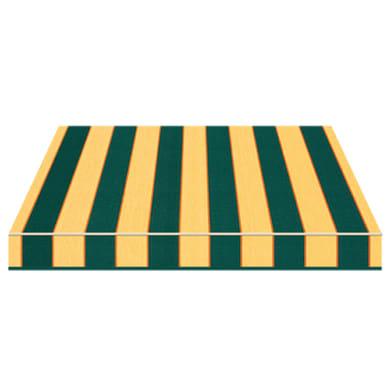 Tenda da sole a bracci estensibili manuale TEMPOTEST PARA' L 2.4 x H 2 m Cod. 484/3 verde, giallo, arancione