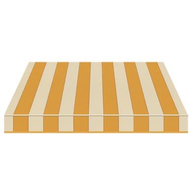 Tenda da sole a bracci estensibili manuale TEMPOTEST PARA' L 2.4 x H 2 m Cod. 5009/12 avorio, giallo, marrone