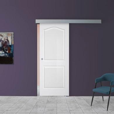 Porta scorrevole con binario esterno Ipanema in vetro Kit A L 88 x H 220 cm dx