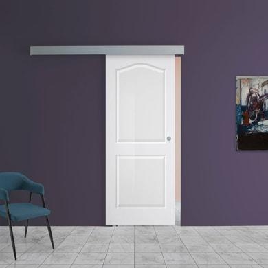 Porta scorrevole con binario esterno Ipanema in vetro Kit A L 88 x H 220 cm sx