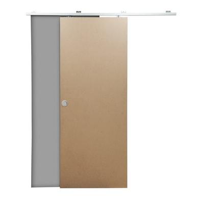Porta scorrevole con binario esterno Practical filomuro in mdf grezzo Kit Tango L 80 x H 210 cm