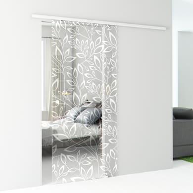 Porta scorrevole con binario esterno Spring in vetro vetro Kit Atena L 86 x H 215 cm