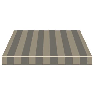 Tenda da sole a bracci estensibili manuale TEMPOTEST PARA' L 350 x H 210 cm grigio, beige Cod. 5369