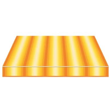 Tenda da sole a bracci estensibili manuale TEMPOTEST PARA' L 350 x H 210 cm arancione, giallo, avorio Cod. 770/55