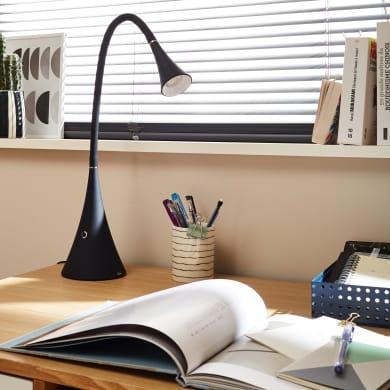 Lampada da scrivania Design flessibile Wilton nero , INSPIRE