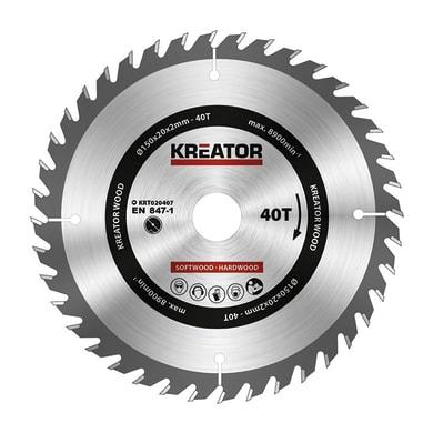 Lama per sega circolare KREATOR Ø 150 mm 40 denti