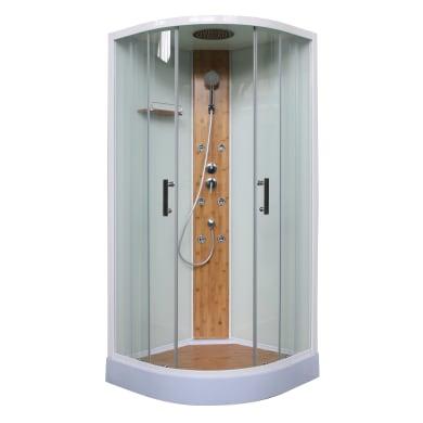 Cabina doccia idromassaggio semicircolare 90 x 90 cm