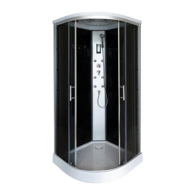 Cabina doccia idromassaggio semicircolare SIMPLY 90 x 90 cm