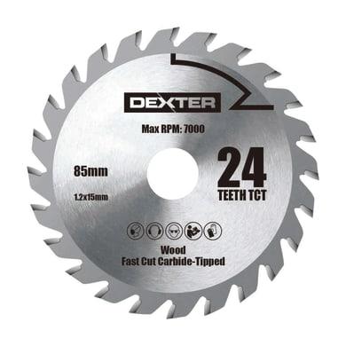 Lama per sega circolare DEXTER POWER acciaio e carbonio Ø 85.0 mm 24 denti