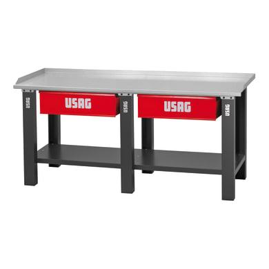 Banco da lavoro fisso USAG , L 200 x H 85 x P 70 cm,