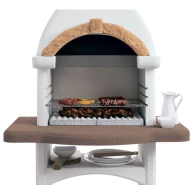 Barbecue in cemento refrattario PALAZZETTI Rialto con cappa L 118 x P 118 x H 234 cm