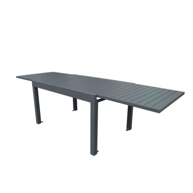 Tavolo da giardino allungabile  rettangolare con piano in alluminio L 135 x P 100 cm