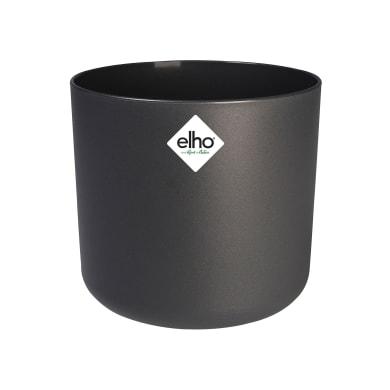 Portavaso b.for soft rond ELHO in polipropilene colore anthracite H 16.7 cm, P 18.3 cm Ø 18.3 cm