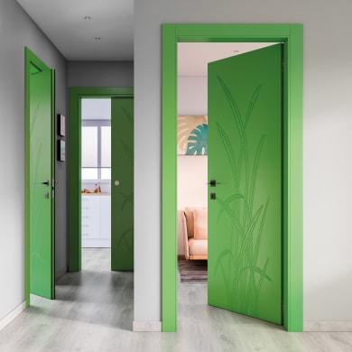 Porta a battente Blades Green verde L 80 x H 210 cm sinistra