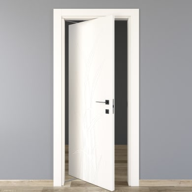 Porta rototraslante Blades White bianco L 80 x H 210 cm sinistra