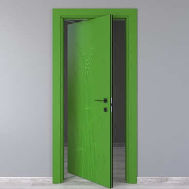 Porta rototraslante Blades Green verde L 70 x H 210 cm sinistra