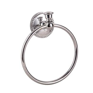 Porta salviette ad anello Emmy cromo lucido L 19 cm