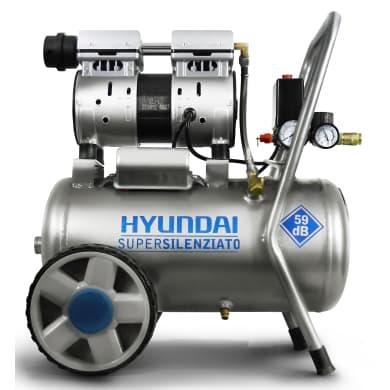 Compressore silenziato HYUNDAI , 1 hp, 8 bar, 24 L