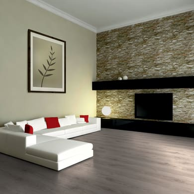 Pavimento laminato Solbiate Sp 7 mm grigio / argento