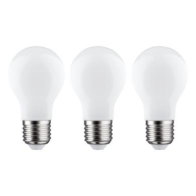 Lampadina LED filamento E27, Goccia,  diffusore Opaco, col.luce Bianco, Luce naturale, 7.5W=806LM (equiv 60 W), 360° , LEXMAN , set di 3 pezzi