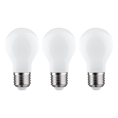 Lampadina LED filamento E27, Goccia, Opaco, Bianco, Luce naturale, 7.5W=806LM (equiv 60 W), 360° , LEXMAN , set di 3 pezzi