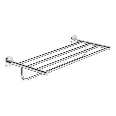 Porta salviette con ripiano Essentials New cromo lucido L 55 cm