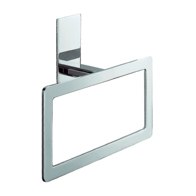 Porta salviette ad anello Flat cromo lucido L 22 cm