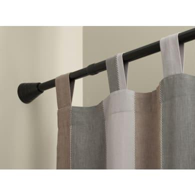 Bastone per tenda a pressione estensibile Ib+ in metallo Ø 20 mm nero opaco Da 143 a 250 cm