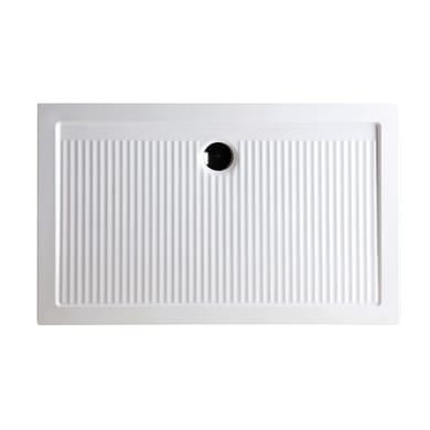 Piatto doccia ceramica Slim 100 x 70 cm bianco