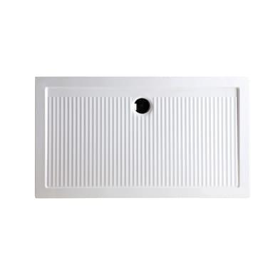 Piatto doccia ceramica Slim 120 x 70 cm bianco