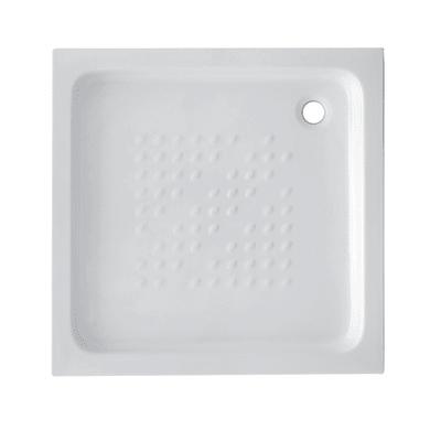 Piatto doccia ceramica Quadro 90 x 90 cm bianco