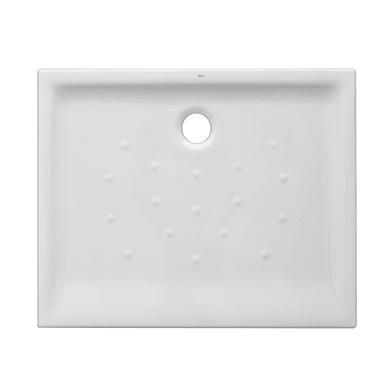 Piatto doccia ceramica Quadro 90 x 72 cm bianco
