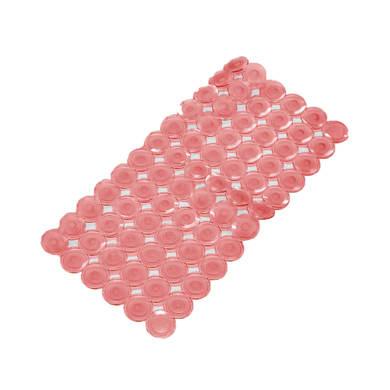 Tappeto antiscivolo rettangolare Bottoni in pvc rosso 71 x 36 cm