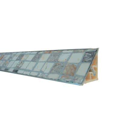 Alzatina alluminio crema L 300 x Sp 2.7 cm