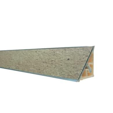 Alzatina alluminio marrone L 300 x Sp 2.7 cm