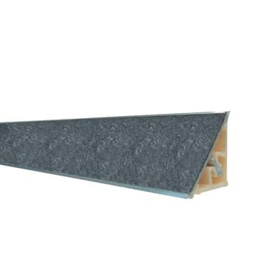 Alzatina alluminio nero L 300 x Sp 2.7 cm