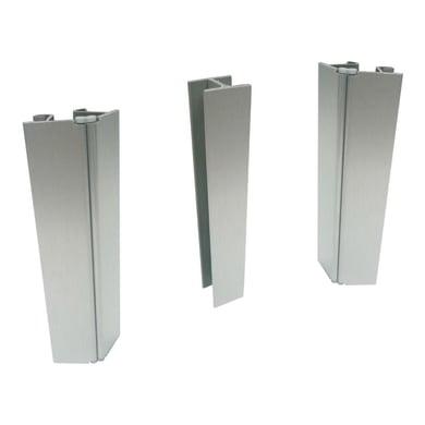 Zoccolino per mobile cucina in alluminio L 10 cm x H 120 mm, spessore 2 mm