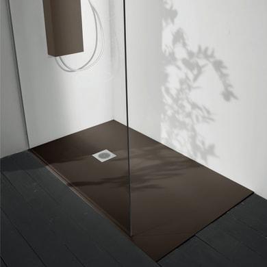 Piatto doccia ultrasottile fibra di vetro Boston 120 x 70 cm moka
