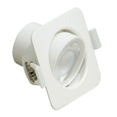 Faretto orientabile da incasso quadrato Orientabile bianco, LED integrato 5W 400LM IP20 LEXMAN