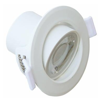 Faretto orientabile da incasso rettangolo Ariel  in Vetro bianco, GU10 5W IP20 LEXMAN