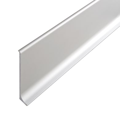 Battiscopa H 6 x L 200 cm argento
