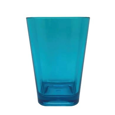 Bicchiere porta spazzolini Claire in plastica blu