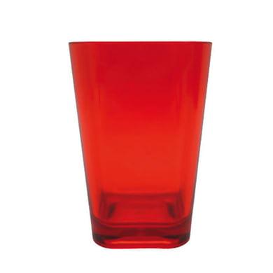 Bicchiere porta spazzolini Claire in plastica rosso
