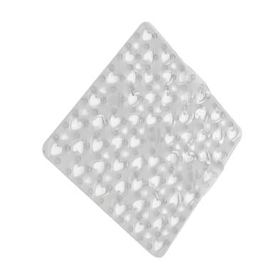 Tappeto antiscivolo quadrata Love in pvc trasparente 52 x 52 cm
