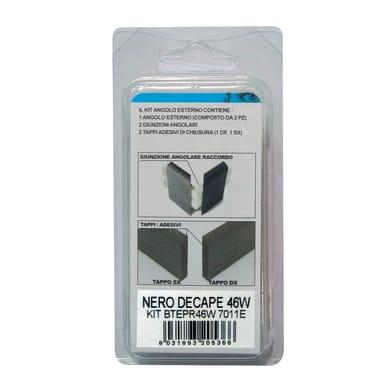 Angolare esterno in kit nero 5 x 11 cm Sp 20 mm