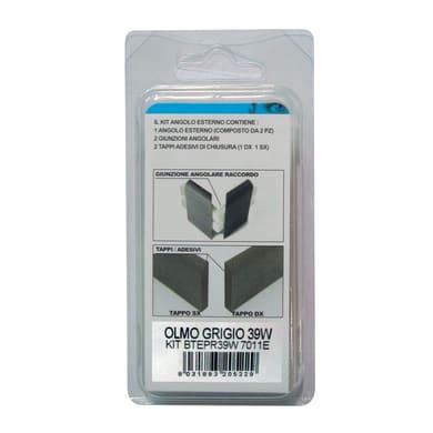 Angolare esterno in kit grigio 5 x 11 cm Sp 20 mm