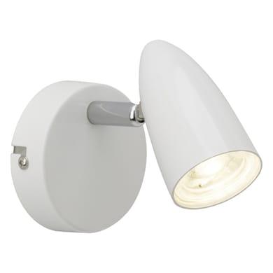 Faretto singolo Nano bianco, in plastica, LED integrato 4W 350LM IP20 BRILLIANT