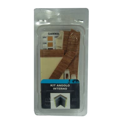Angolare interno in kit kit angolo interno battiscopa 7011 teak 5 x Sp 20 mm