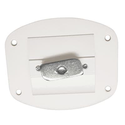 Piastra di fissaggio per accessori Logo bianco L 8 x P 7 x H 1 cm